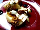 Hruškový salát s kozím sýrem a ořechy recept