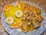 Jáhly s hermelínem a drůbežím masem na ovoci recept ...