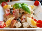 Tuňák snack salát s olivami recept