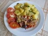 Maso na zelenině se šlehačkou recept