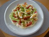 Zeleninový salát s česnekovým dressingem recept