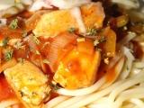 Špagety s kuřecím masem recept
