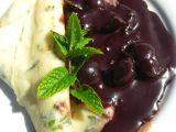 Mátové palačinky a višně v čokoládě recept