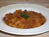 Pikantní fazolový guláš recept