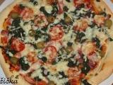 Špenátová pizza recept