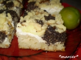 Blumový koláč s mákem a tvarohem recept