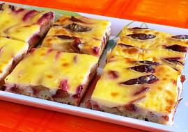 Švestkový koláč s pudinkem recept