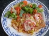 Zapečený pangasius s paprikou a rajčaty recept