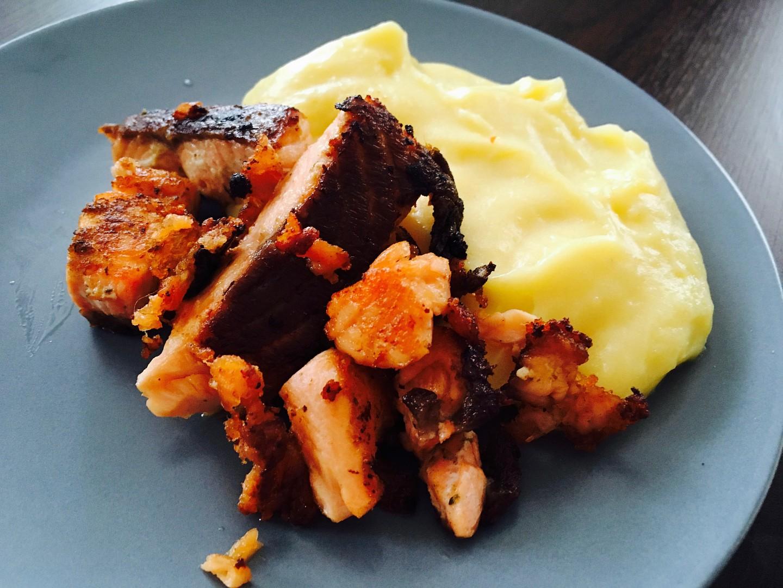 Losos na másle s bramborovou kaší recept