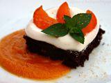 Cizrnové brownies s meruňkovou omáčkou recept