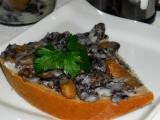 Houbové škvarky, houbové sádlo recept