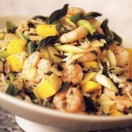 Rýžový salát s krevetami recept