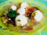 Pórková polévka s tofu knedlíčkami recept