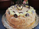 Kokosový dort (původní recept byl na kokosové řezy)