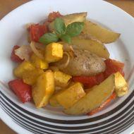 Pečené brambory se zeleninou recept