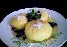 Kynuté borůvkové knedlíky recept