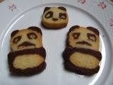 Panda cookies recept