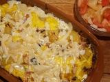 Brambory zapečené s kuřecím masem recept