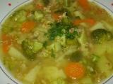 Brokolicovo-ovesná polévka recept