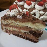 Lehký dort s pařížským krémem a banánem recept