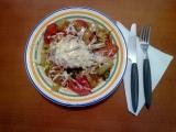 Kuře na rajčatech a paprikách recept