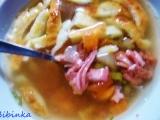 Nedělní srnčí polévka s fritátovými nudlemi recept