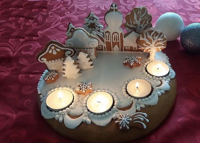 Adventní perníkové svícny recept