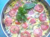 Letní omeleta s cuketami a kuřecím masem recept
