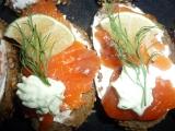 Minichlebíčky s lososem recept