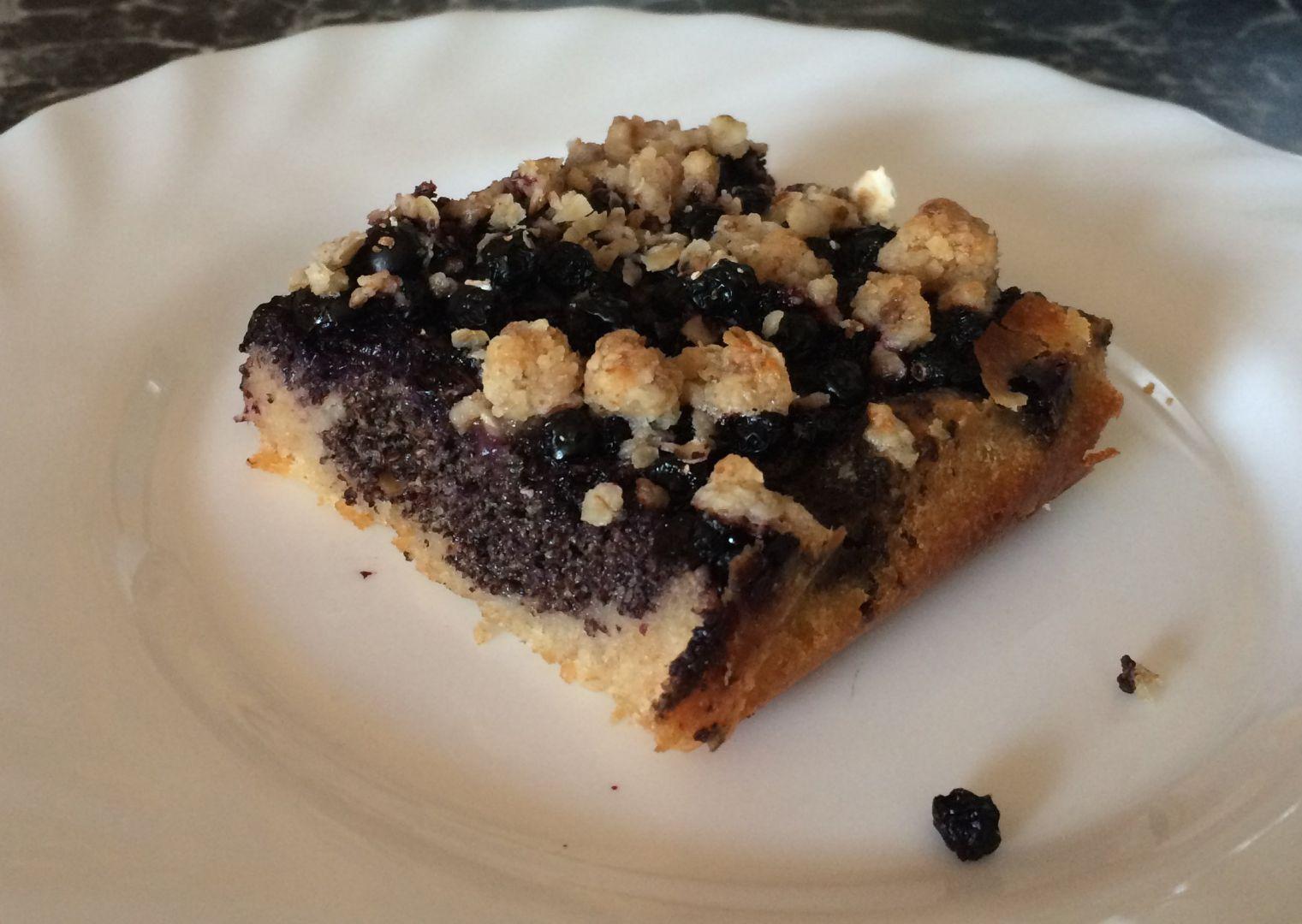 Borůvkový koláč s mákem recept