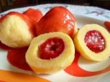 Jahodové knedlíky z tvarohového těsta recept