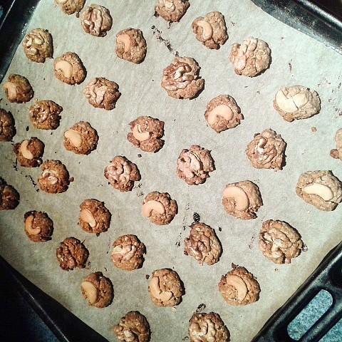 Ořechovo-ovesné hrudky recept
