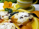 Špendlíkový koláč s borůvkami / bez vajec / recept