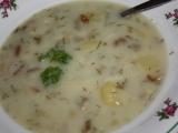 Bramborová polévka s houbami nakyselo recept