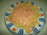 Hermelínová omáčka na těstoviny recept