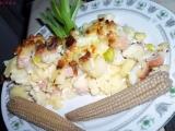 Těstoviny a brambory zapečené s pórkem a nivou recept ...