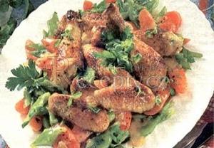 Kuře na víně se zeleninou