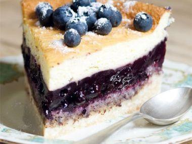 Recept Tvarohový koláč s borůvkami