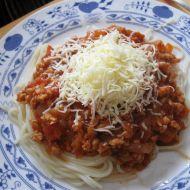 Sójová boloňská omáčka na špagety recept