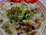 Těstoviny s houbami a s hlávkovým zelím recept