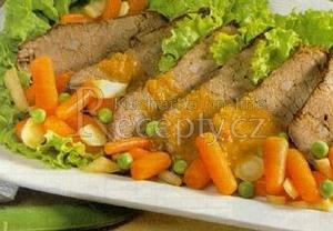 Hovězí maso na zelenině