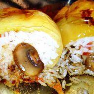 Pečená plněná paprika s dušenou rýží recept