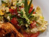 Pestrý salát s Nivou a česnekovým dresinkem recept