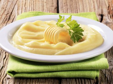 Bramborová kaše s majonézou