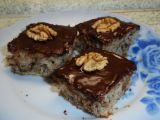 Ořechové rychlé řezy s čokoládovou polevou recept