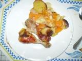 Kuřecí stehna s mrkví a bramborem recept