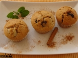 Čokoládovo-hruškové muffiny recept