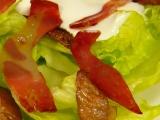 Salát s opečenou slaninou recept