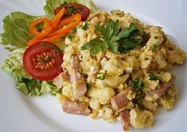 Špecle s uzeninou,mozzarellou a vejci recept