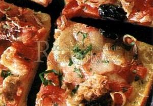 Bramborová pizza s tuňákem